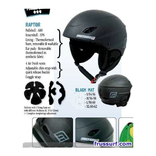 Casco snowboard Madness Raptor black mat
