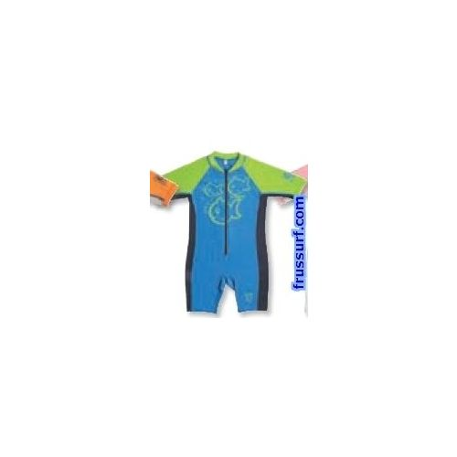 Licra C-Skins Baby Sunsuit Shorty blue-green