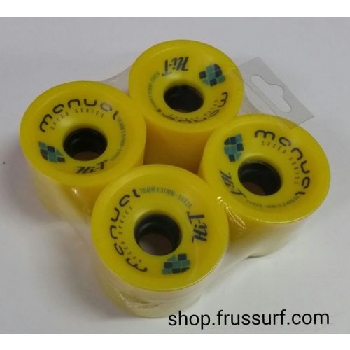 Ruedas longskate Manual Hi-T 70x51 mm. 82A amarillo