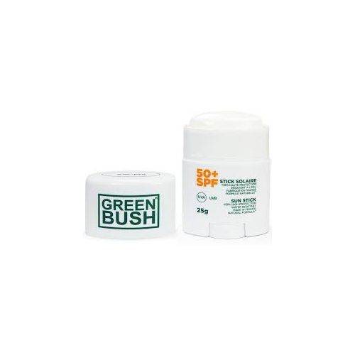 Crema de sol stick Green Bush SPF50 blanco